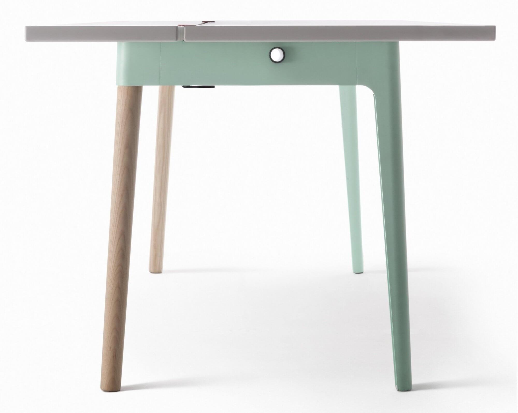 Table de réunion avec piétement bois OFF