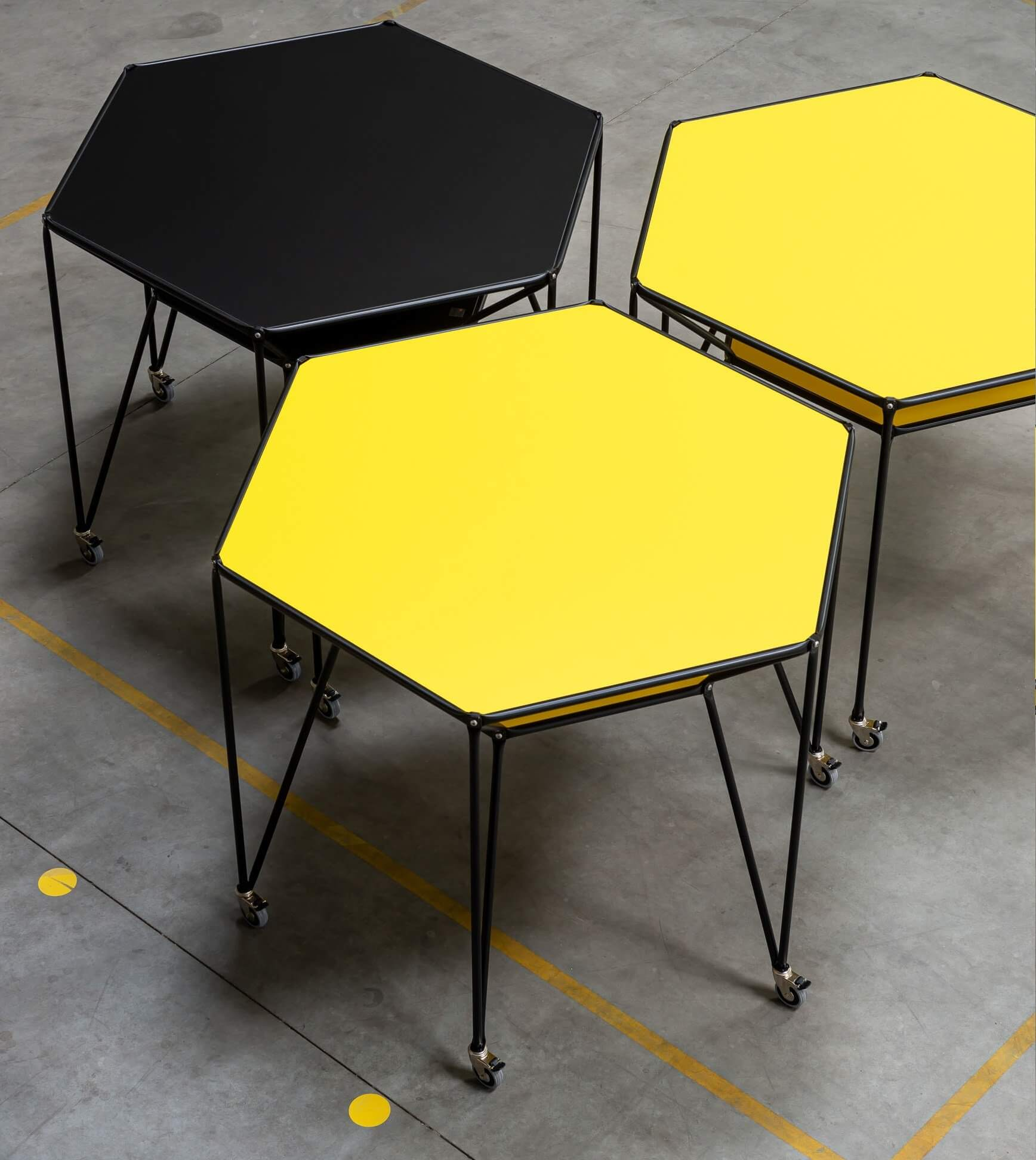 Table de réunion design hexagone