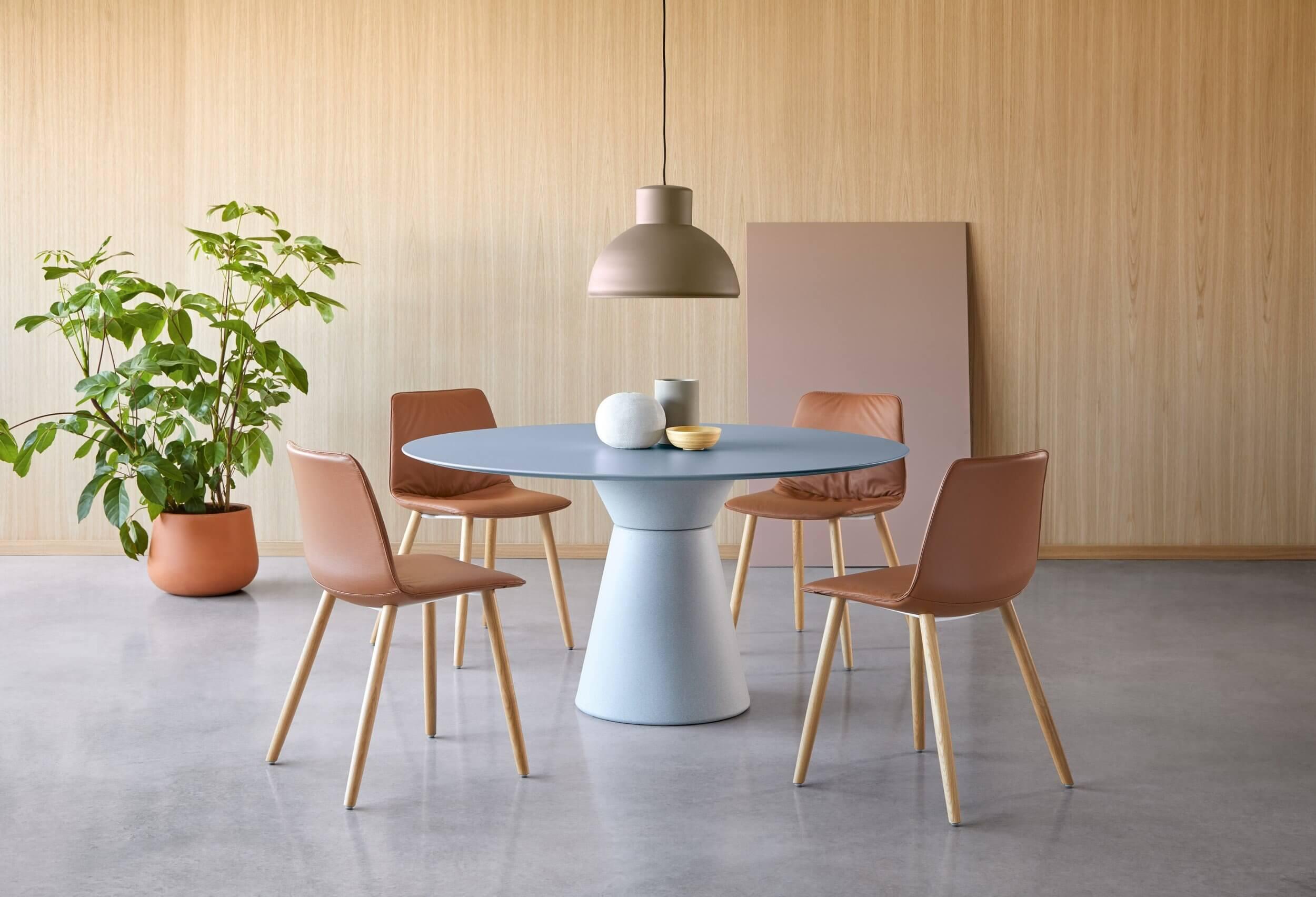 Table de réunion ronde 6 personnes