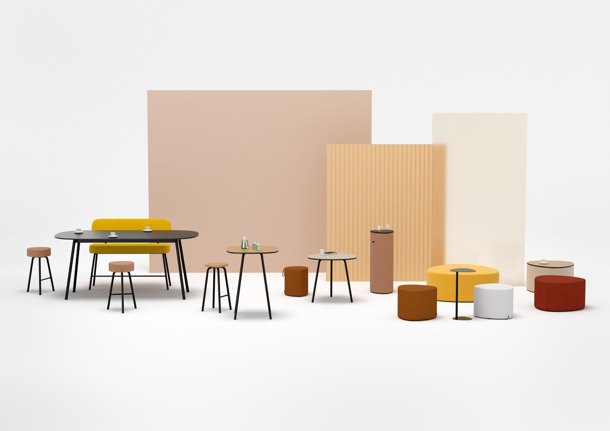 Table de réunion ovale design PULLY.