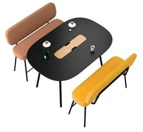 Table de réunion ovale design PULLY
