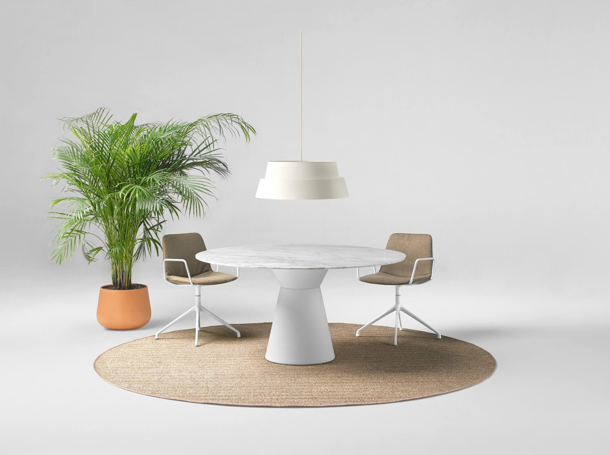 Table réunion ronde en marbre SENS
