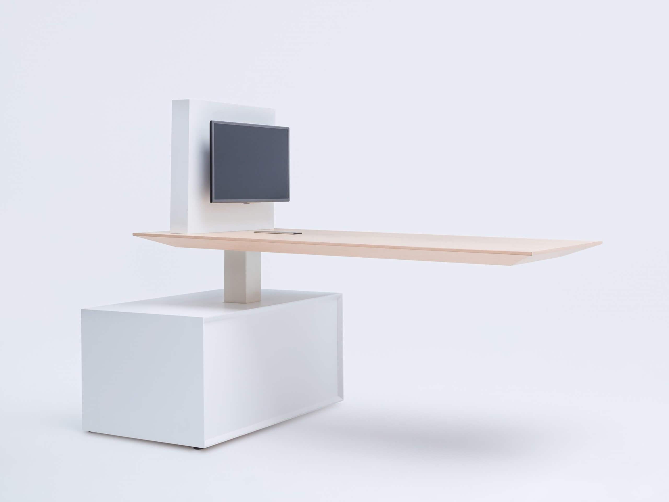 Table réglable en hauteur design