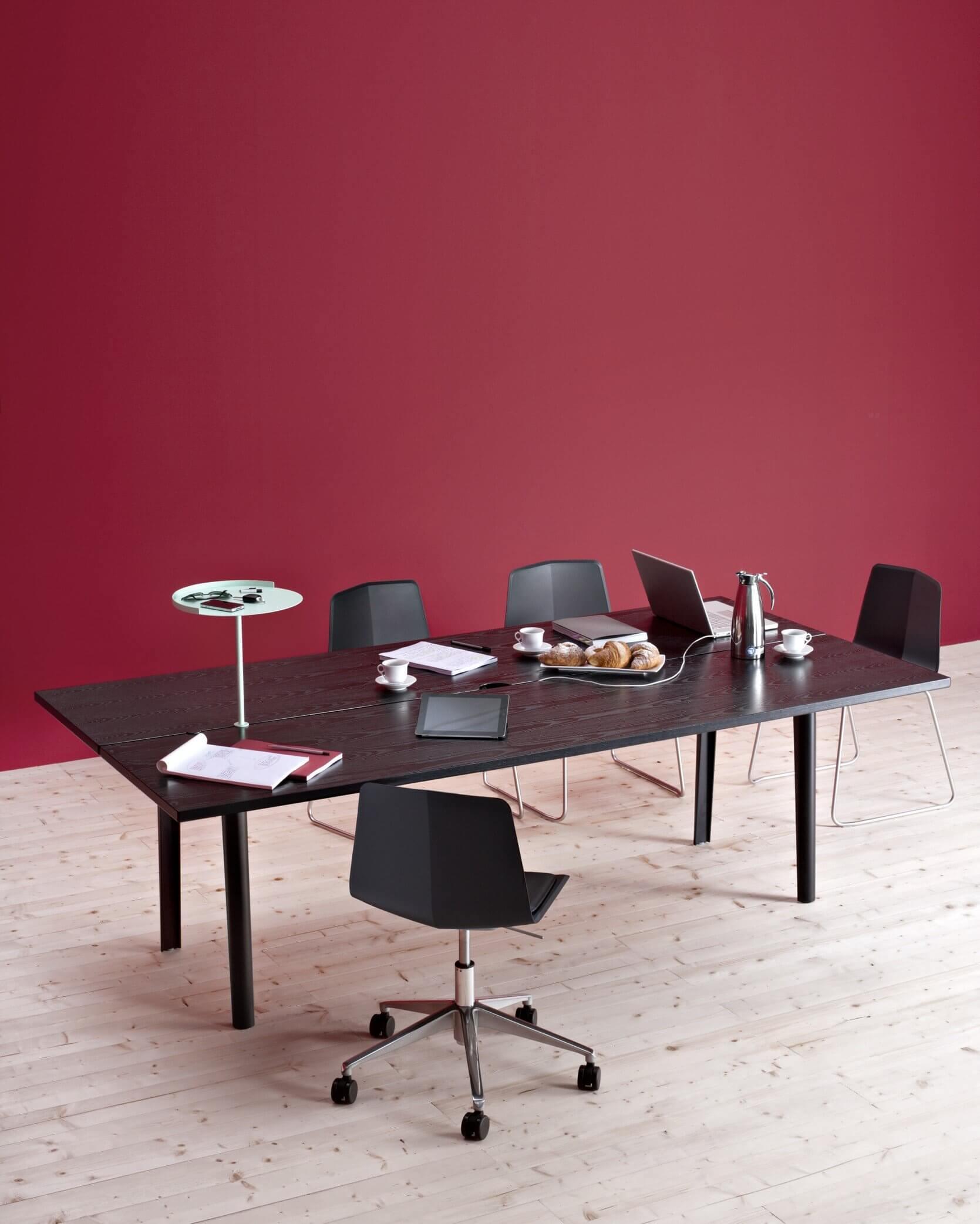 Table de réunion noire OFF