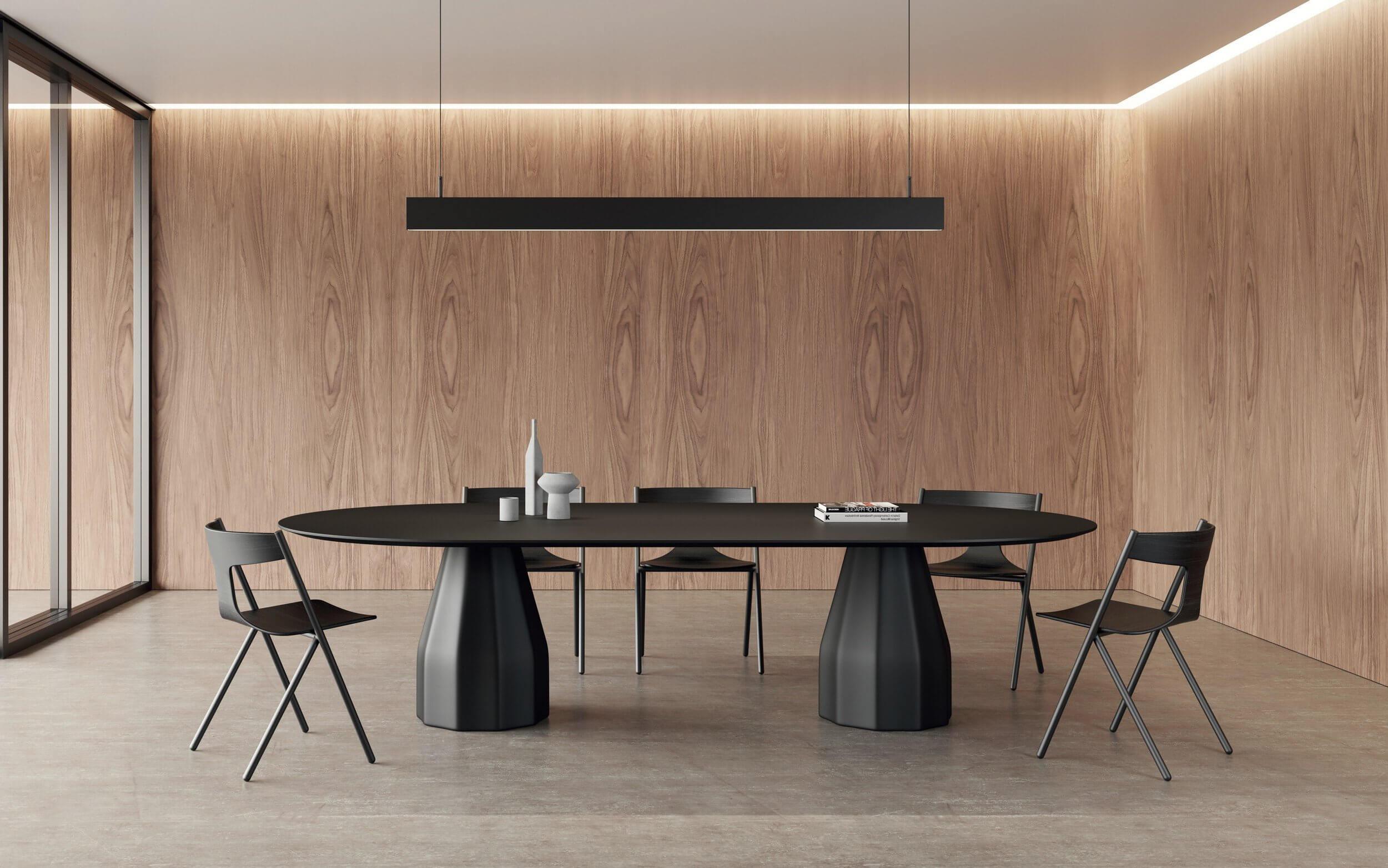 Table de réunion design ovale BURIN.