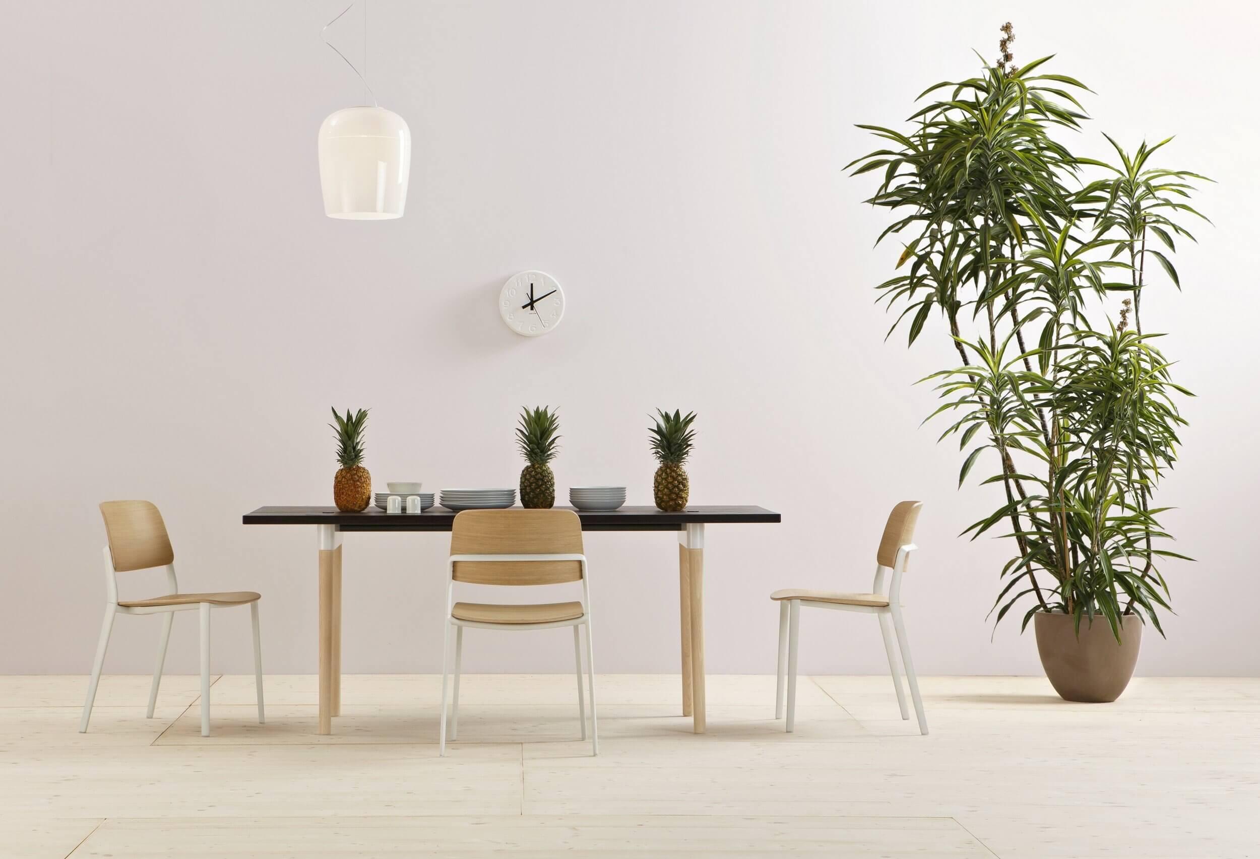 Table de réunion noir et bois OFF