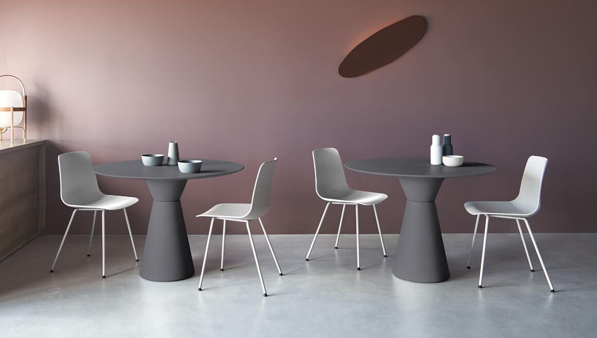 Table ronde pour cafétéria
