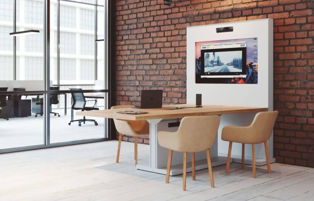 Table visioconférence avec écran et caméra fournis