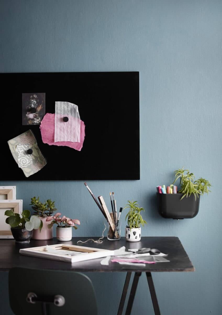 Tableau en verre magnétique couleur noire
