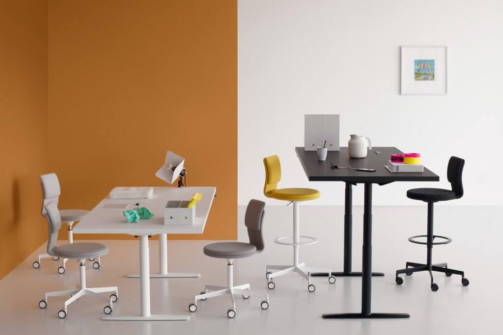 Chaise de travail haute pour table hauteur bar