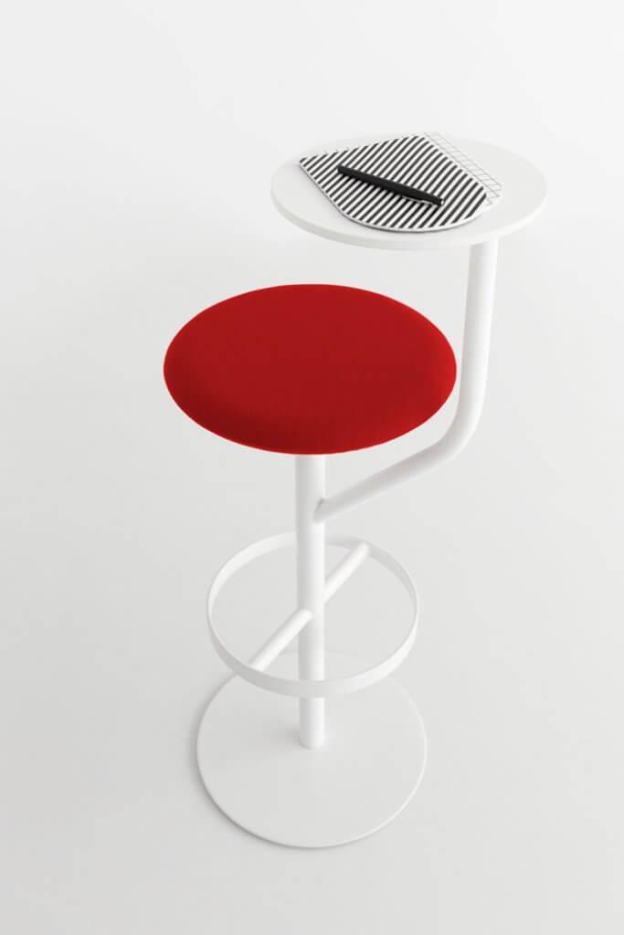 Chaise de bar haute avec tablette AARON